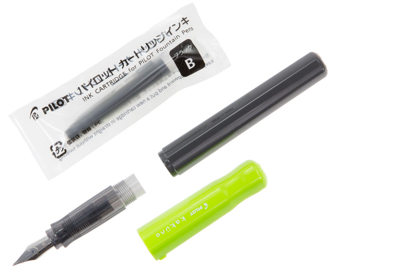 Pilot Kakuno Fountain Pen - Lime Green/Gray