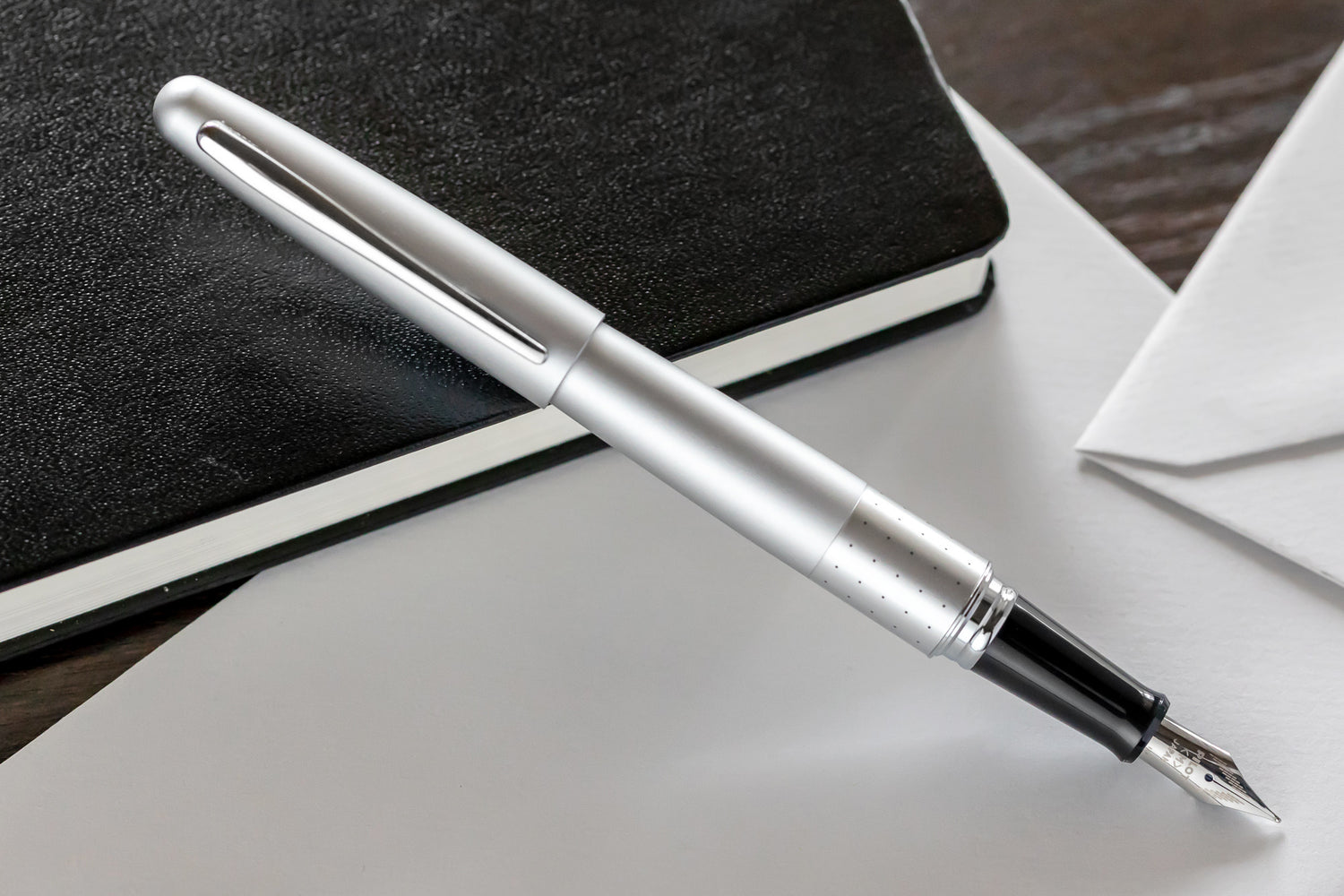 Pilot Metropolitan Fountain Pen - Silver Dots