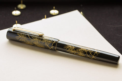Namiki Chinkin Fountain Pen - Silver Grass