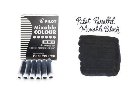 Pilot Parallel Mixable Colour Black - Ink Cartridges