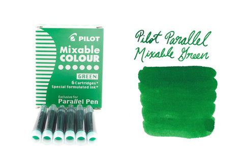 Pilot Parallel Mixable Colour Green - Ink Cartridges