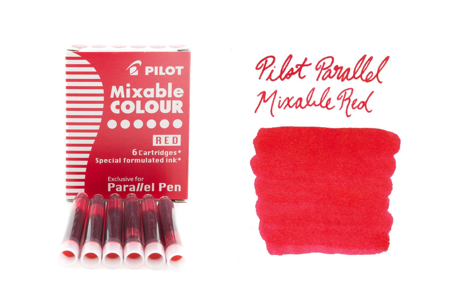 Pilot Parallel Mixable Colour Red - Ink Cartridges
