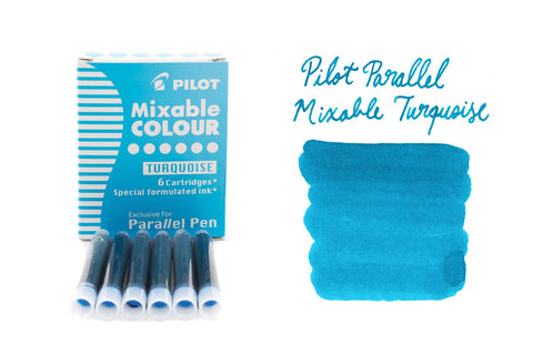 Pilot Parallel Mixable Colour Turquoise - Ink Cartridges