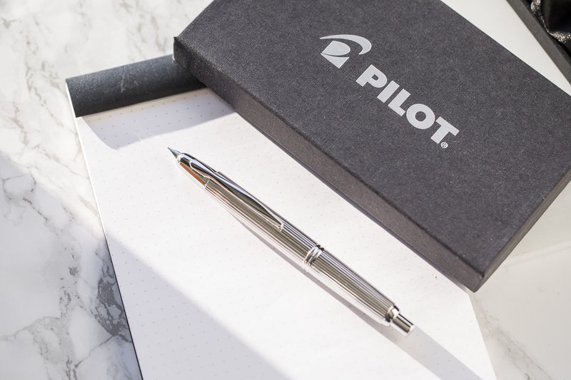 Pilot Vanishing Point Fountain Pen - Stripes