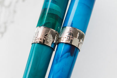 Pineider Avatar Fountain Pen - Abalone Green