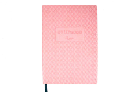 Pineider Hollywood A5 Journal - Pink, Lined (5.71 x 8.27)