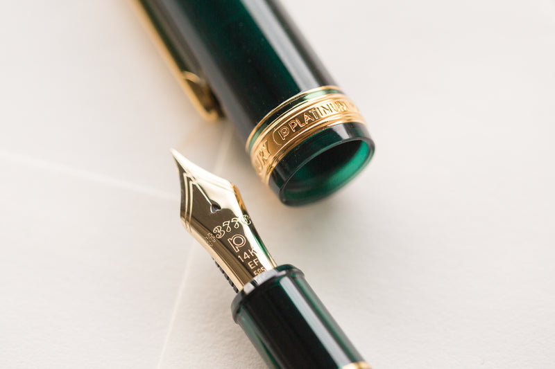 Platinum #3776 Century Fountain Pen - Laurel Green/Gold