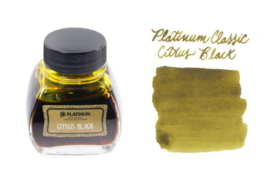 Platinum Classic Citrus Black - 60ml Bottled Ink