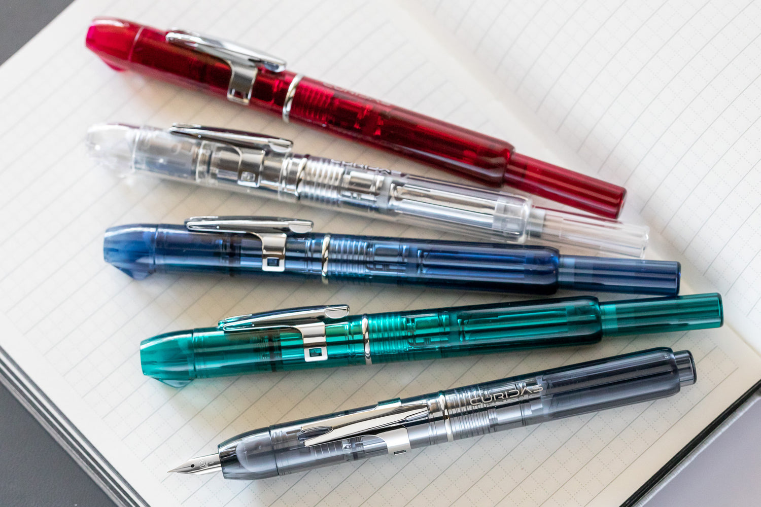 Platinum Curidas Fountain Pen - Prism Crystal