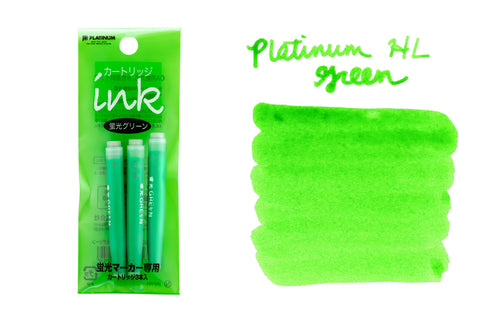 Platinum Highlighter Green - Ink Cartridges