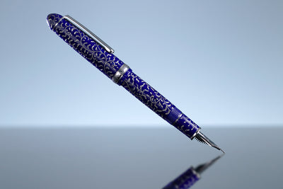 Platinum #3776 Celluloid Fountain Pen - Karakusa Blue
