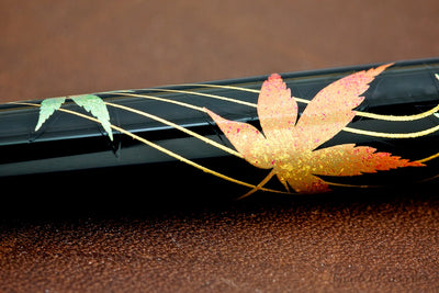Platinum Kanazawa Leaf Fountain Pen - Changing Autumn Leaves