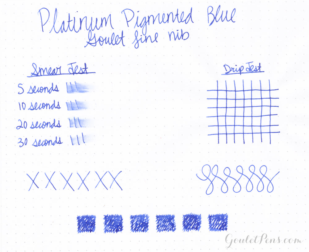 Platinum Pigmented Blue - Ink Sample