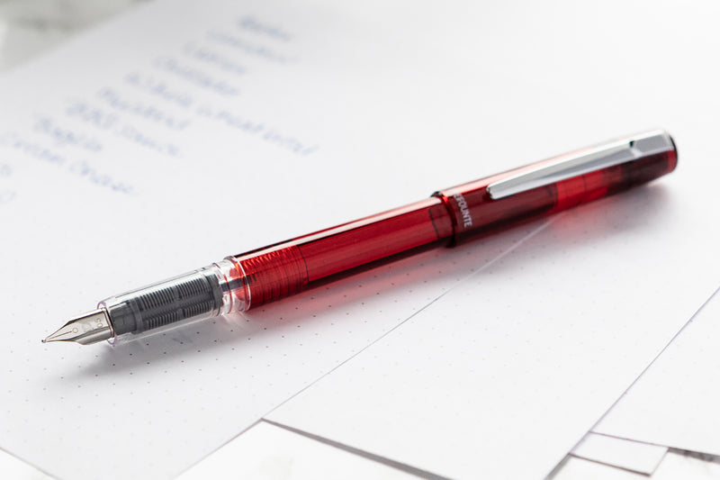 Platinum Prefounte Fountain Pen - Crimson Red