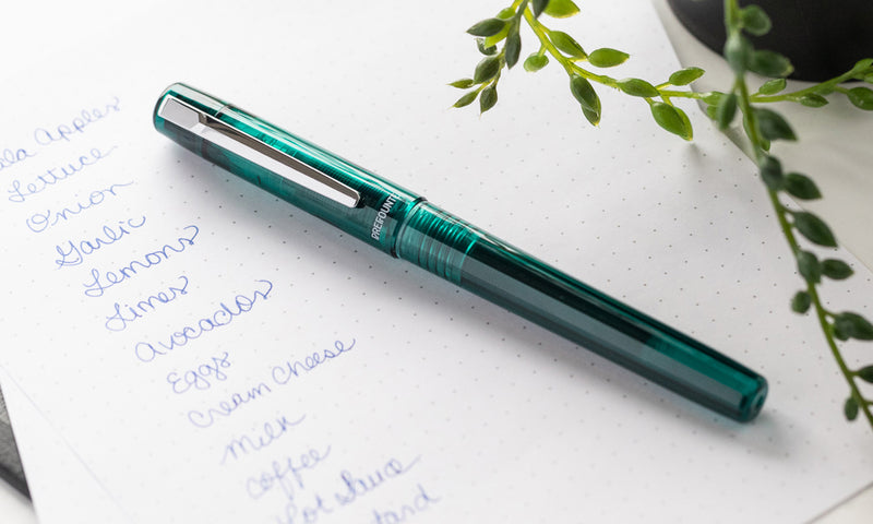 Platinum Prefounte Fountain Pen - Dark Emerald