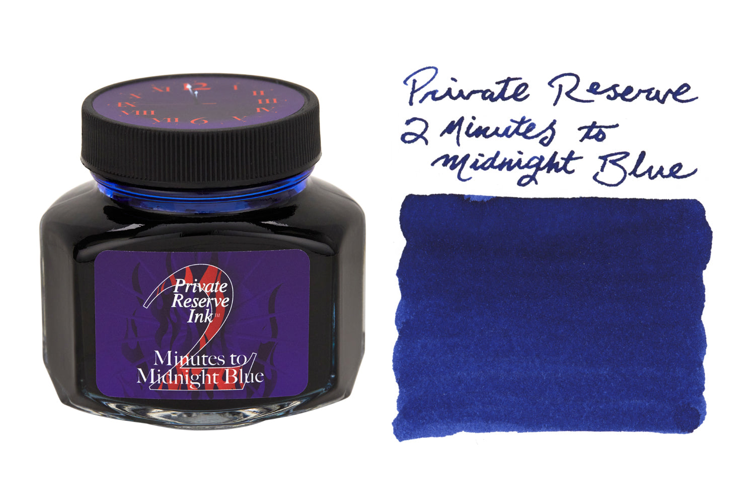Private Reserve 2 Minutes to Midnight Blue - 110ml Bottled Ink (Limite –  The Goulet Pen Company