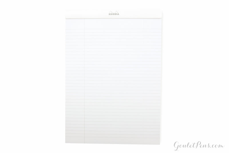 Rhodia No. 18 Notepad - Ice White, Lined (8.27 x 11.69)