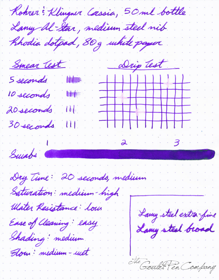 Rohrer & Klingner Cassia - Ink Sample