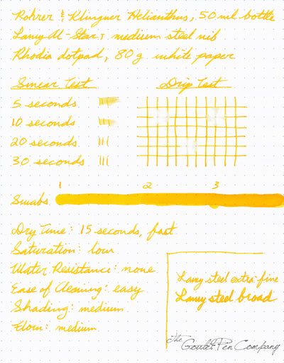 Rohrer & Klingner Helianthus - 50ml Bottled Ink