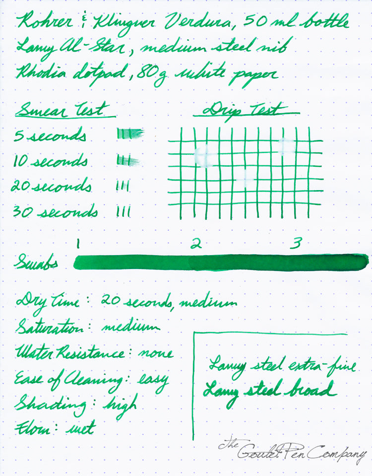 Rohrer & Klingner Verdura - 50ml Bottled Ink