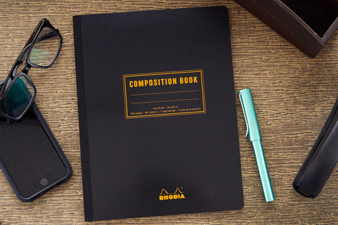 Rhodia Composition Book - Black, Lined