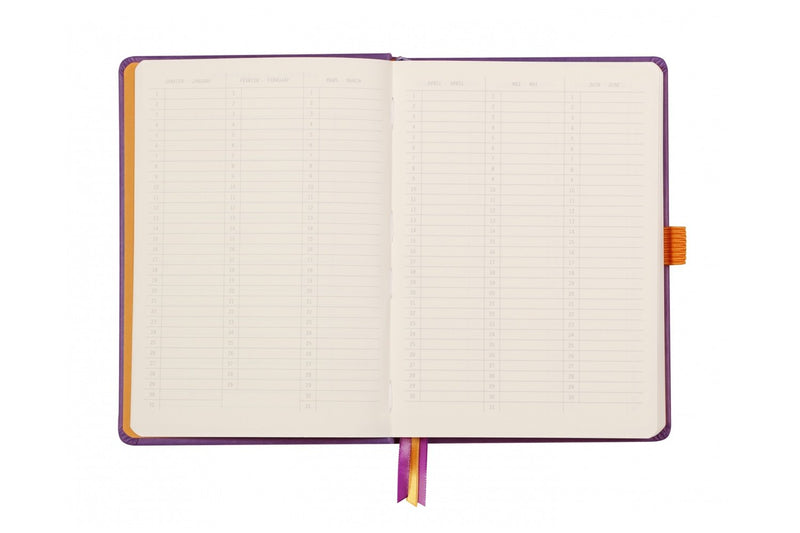 Rhodia A5 Hardcover Goalbook - Sapphire, Dot Grid