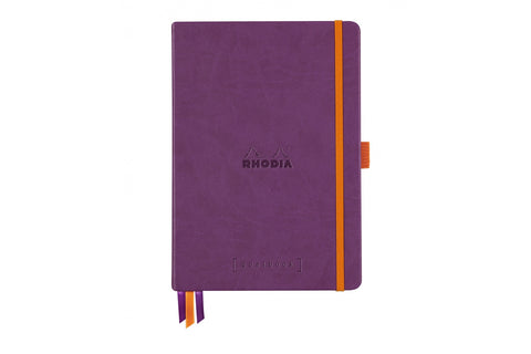 Rhodia A5 Hardcover Goalbook - Purple, Dot Grid