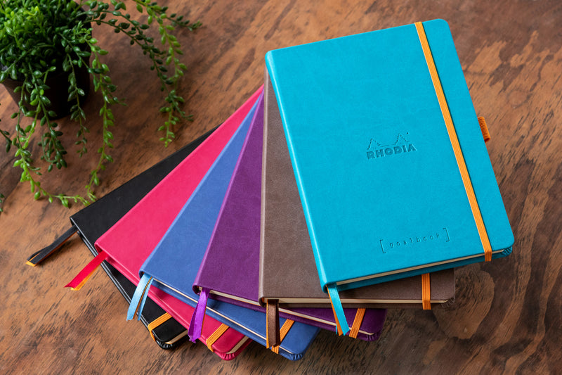 Rhodia A5 Hardcover Goalbook - Turquoise, Dot Grid