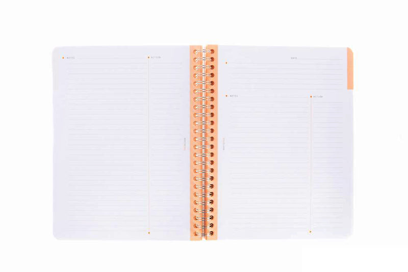 Rhodia Classic Wirebound Meeting Book - Black, Lined (6.30 x 8.27)