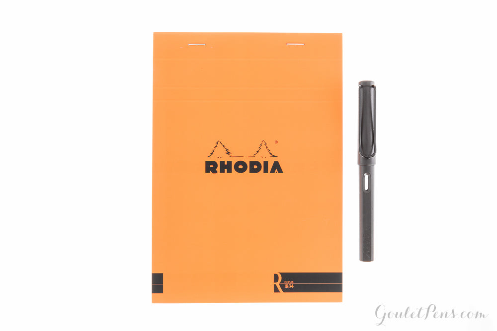 Rhodia No. 16 Premium A5 Notepad - Orange, Lined