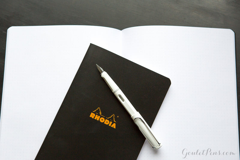 Rhodia Classic Side Staplebound Notebook - Black, Dot Grid (8.27 x 11.69)