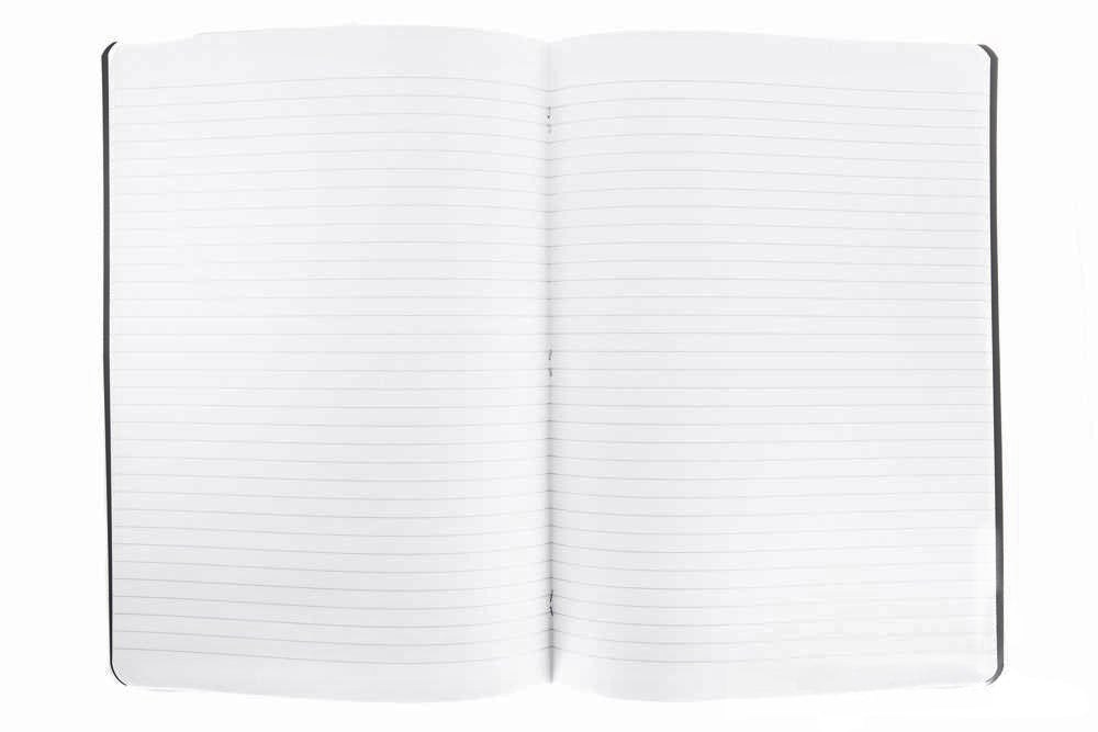 Rhodia Classic Side Staplebound A4 Notebook - Black, Lined