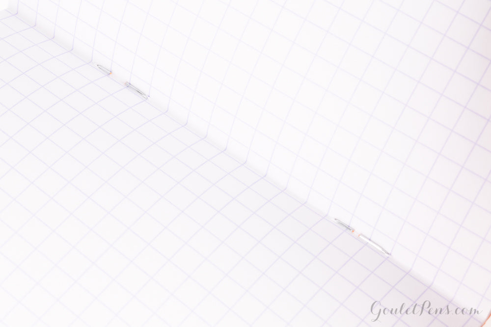 Rhodia Classic Side Staplebound A5 Notebook - Ice White, Graph