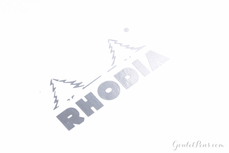 Rhodia Classic Side Staplebound Notebook - Ice White, Lined (5.83 x 8.27)