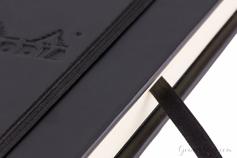 Rhodia Small Webnotebook - Black, Lined (3.54 x 5.51)
