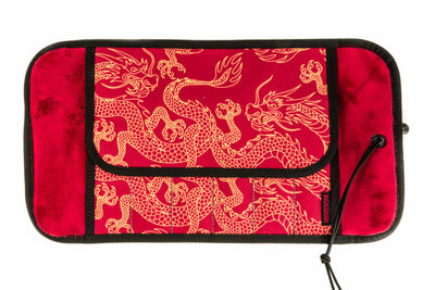 Rickshaw Bagworks Deluxe 6-Pen Roll - Red/Gold Dragon