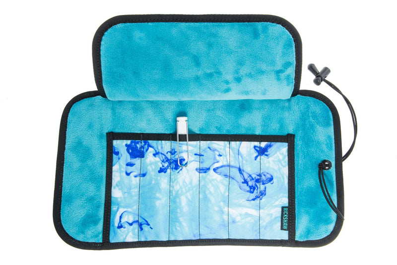Rickshaw Bagworks Deluxe 6-Pen Roll - Inky Turquoise