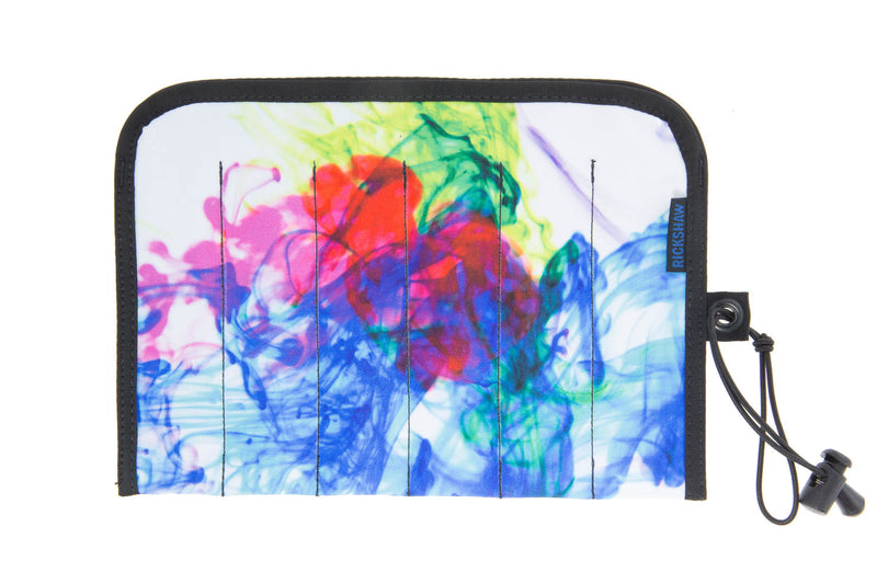 Rickshaw Bagworks Simple 6-Pen Hand Roll - Inky Rainbow