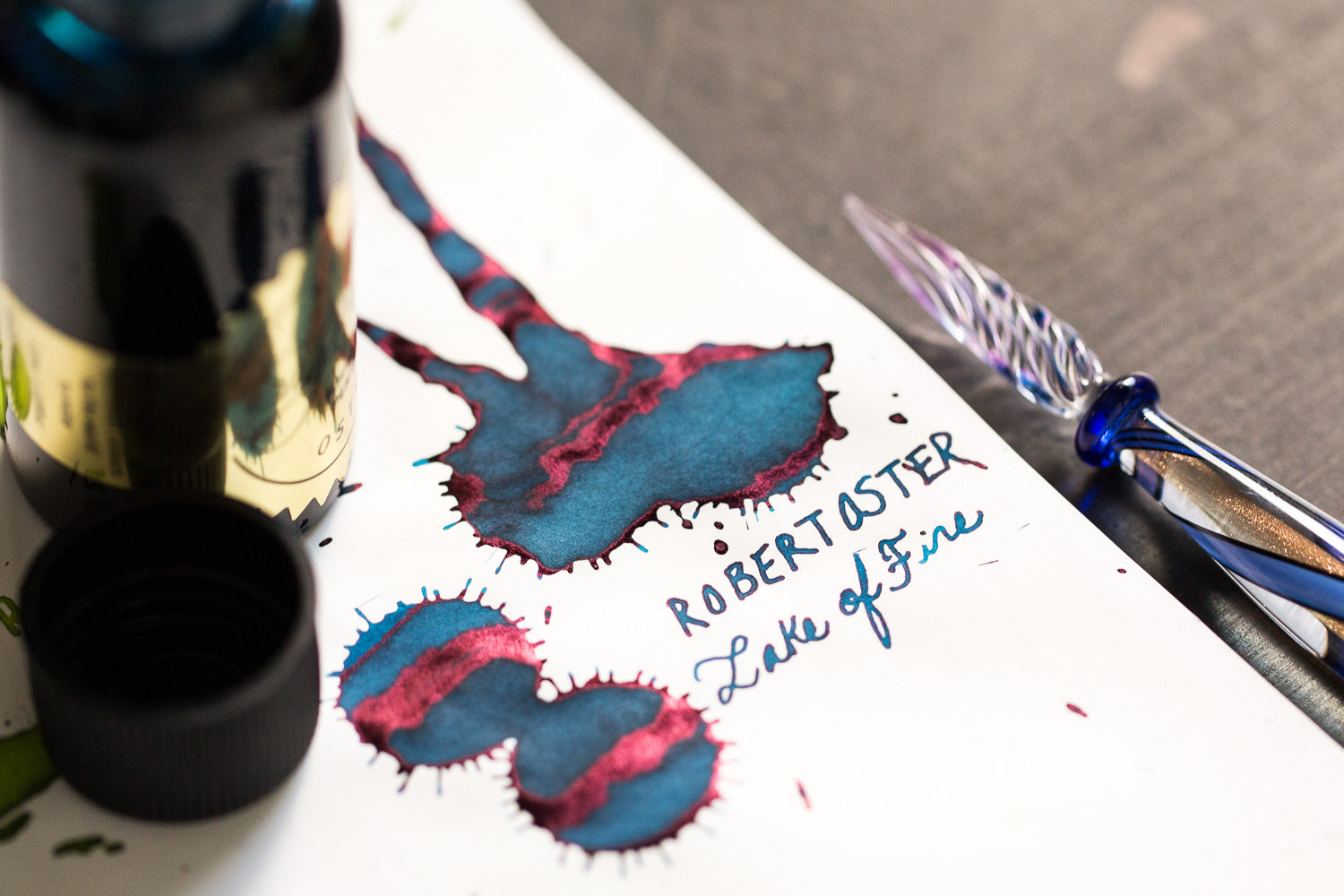 Robert Oster Lake of Fire - Ink Sample