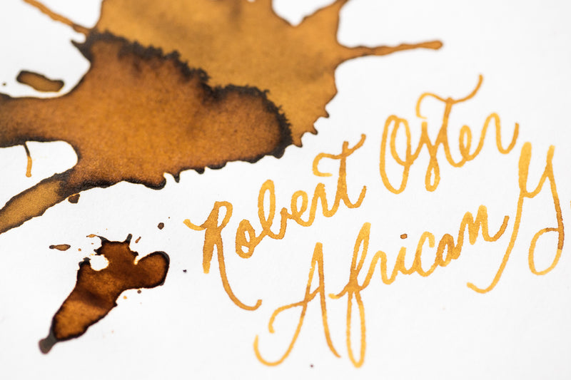 Robert Oster African Gold - Ink Sample