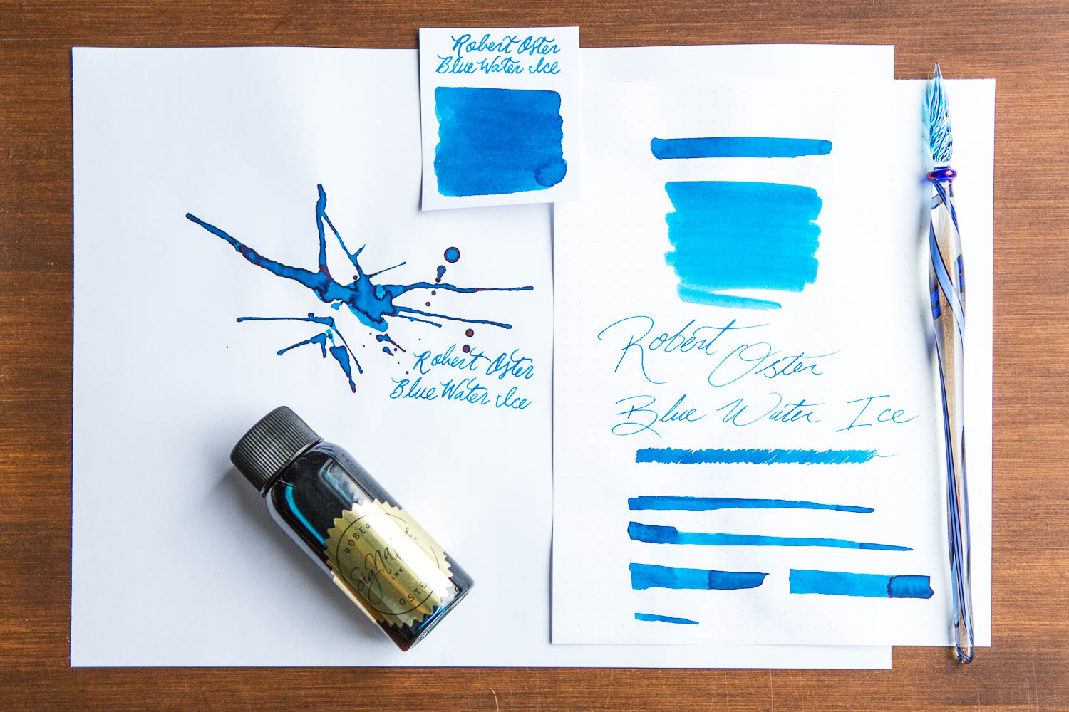 Robert Oster Blue Water Ice - 50ml Bottled Ink
