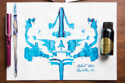 Robert Oster Blue Water Ice - Ink Sample