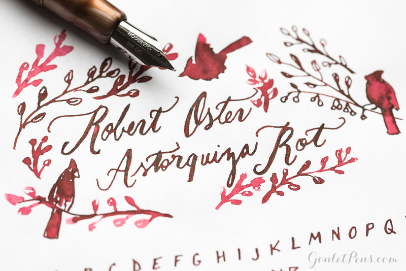 Robert Oster Astorquiza Rot - Ink Sample