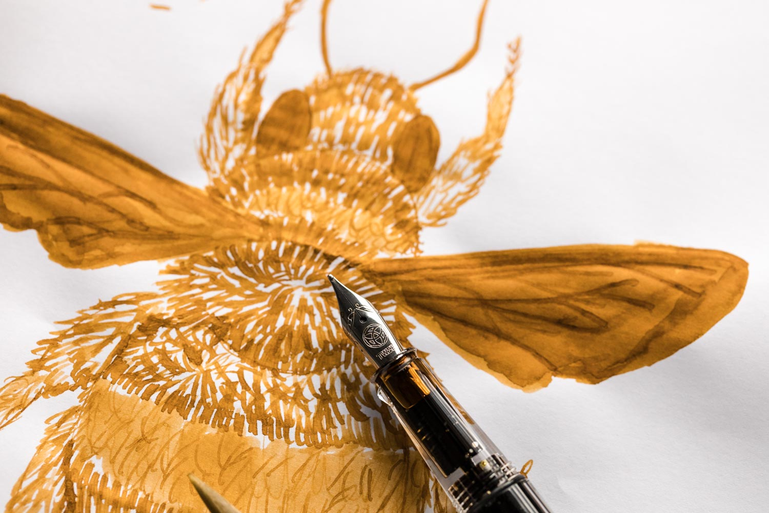 Robert Oster Honey Bee - Ink Sample