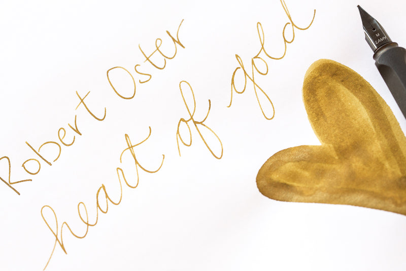 Robert Oster Heart of Gold - Ink Sample