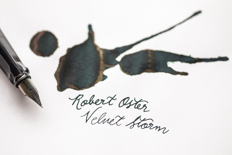 Robert Oster Velvet Storm - Ink Sample