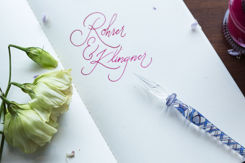 Rohrer & Klingner Glass Dip Pen - Blue