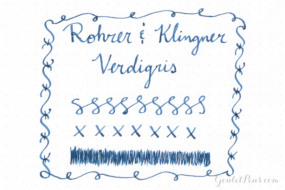 Rohrer & Klingner Verdigris - Ink Sample