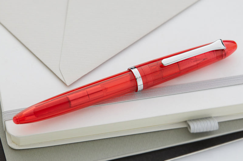 Sailor Compass 1911 Fountain Pen - Transparent Red
