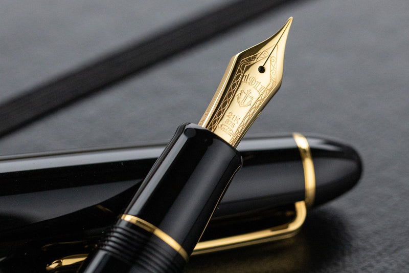 Sailor 1911L Fountain Pen - Black/Gold